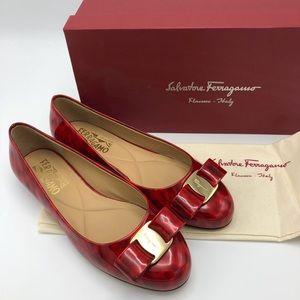 Salvatore Ferragamo Varina Patent Leather Flats